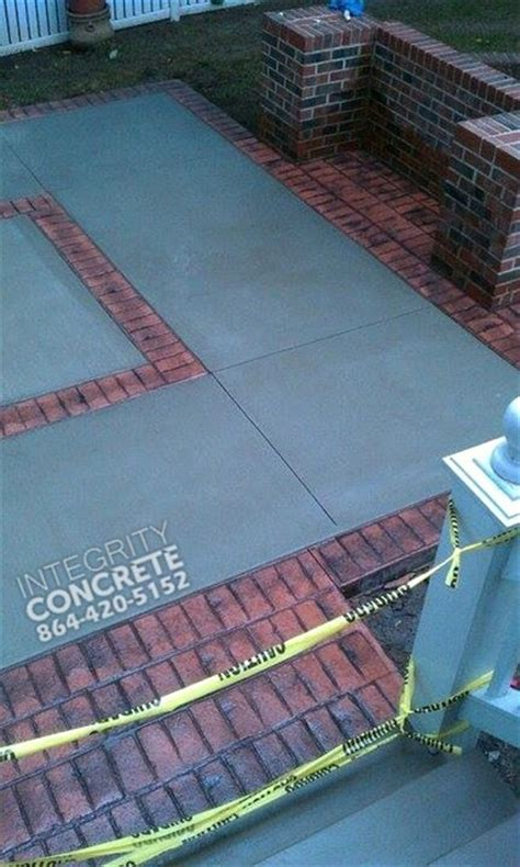 sted concrete brick border traditional patio