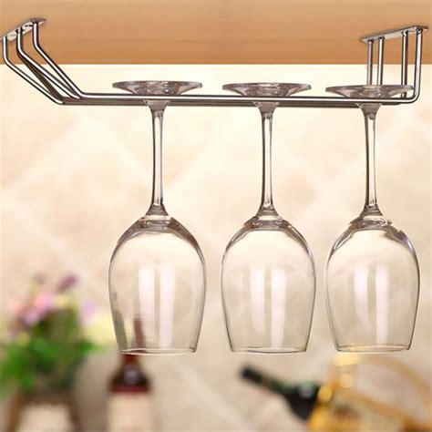 under cabinet stemware rack aslt wine cup wine glass holder hanging drinking glasses