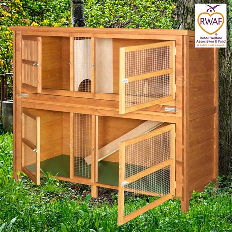 a rabbit hutch home roost 5ft chartwell luxury rabbit hutch