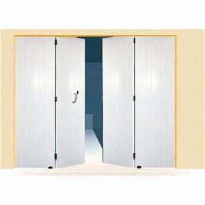 porte garage 4 vantaux pvc a lames verticales uranus With porte de garage a la francaise 4 vantaux
