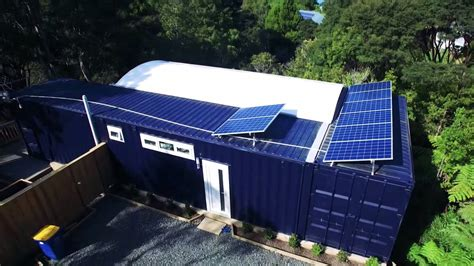 womans solar  sq ft shipping container home
