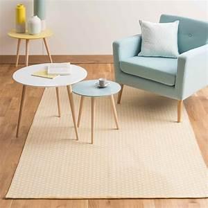 Canapé Jaune Maison Du Monde : tapis en coton jaune moutarde 140 x 200 cm origami maisons du monde ~ Teatrodelosmanantiales.com Idées de Décoration