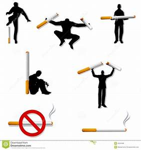 Quit Smoking People Cigarettes Stock Illustration - Image ...