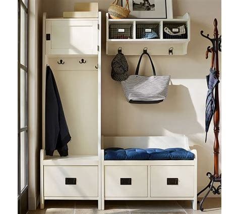 Entryway Cabinet Tower by Wade Cabinet Tower Almond White Pottery Barn