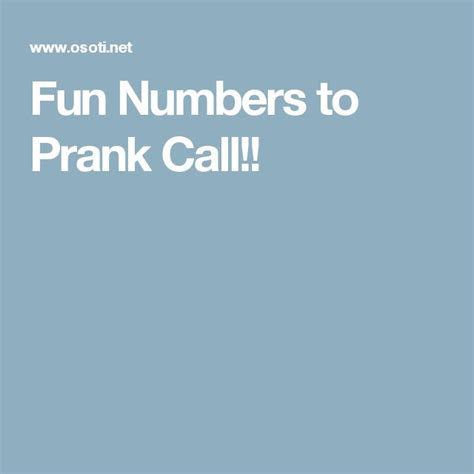 phone numbers to prank 25 best ideas about prank call numbers on