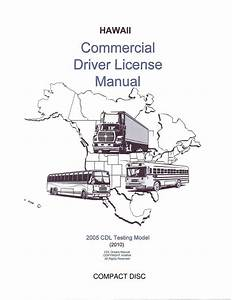 Commercial Driver Manual For Cdl Training  Hawaii  On Cd