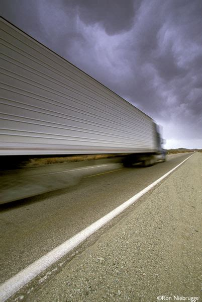 semi truck california highway  stock photo