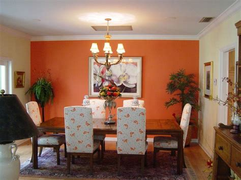 dining room orange wall decor colors feng shui accent walls living ceiling create rooms light decoration interior tips added feeling