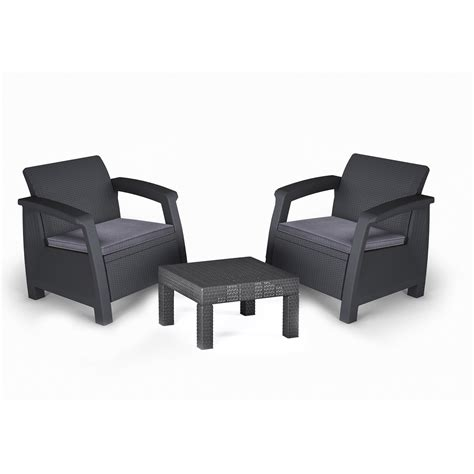 salon de jardin tresse leroy merlin salon de jardin bahamas r 233 sine inject 233 e anthracite table 2 fauteuils leroy merlin