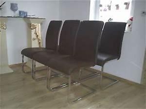 Freischwinger Stuhl Leder Braun : 6er set stuhl esszimmerstuhl stuehle leder braun freischwinger novel ebay ~ Bigdaddyawards.com Haus und Dekorationen