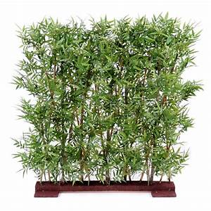 Haie Artificielle Pas Cher : haie de bambou oriental semi naturelle elementvegetal ~ Edinachiropracticcenter.com Idées de Décoration