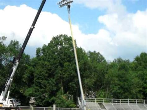 Lieder Field - First Musco Field Light Pole Installed ...