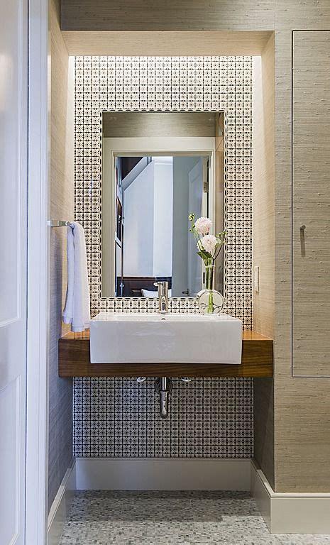 contemporary powder room bathroom design tiles stone