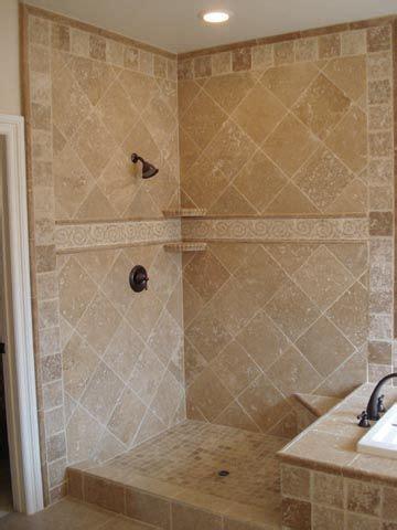 image detail   shower   travertine tile