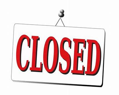 Closed Sign Closing Clipart Down Clip Office
