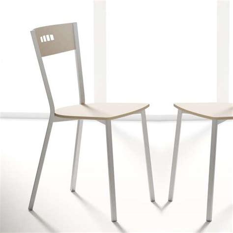chaises de cuisine en bois chaise de cuisine moderne en bois et métal versus 4
