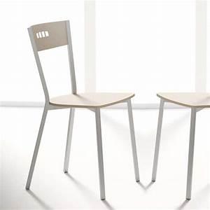 Chaises De Cuisine Modernes : chaise de cuisine moderne en bois et m tal versus 4 ~ Teatrodelosmanantiales.com Idées de Décoration