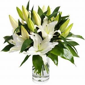 bouquet de magnifiques lys blancs telefleurs With affiche chambre bébé avec bouquet de lys