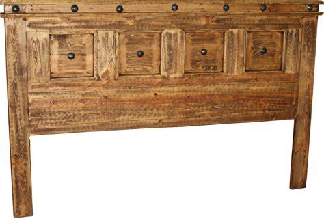 francis king headboard  durango trail rustic furniture