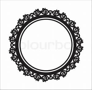 Baroque style label.Old portrait frame isolated.Black ...