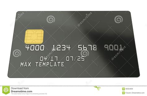 blank credit card template blank black credit card template on white background 3d rendering stock image image 90354959