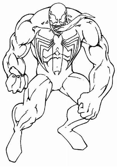 Venom Coloring Spiderman Ausmalbilder Colorear Printable Hulk