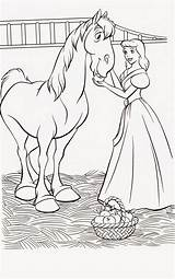 Cinderella Coloring Pages Printable Princess Disney Filminspector Prince sketch template