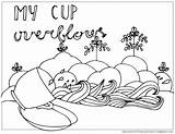 Coloring Psalm 23 Cup Pages Overflows Psalms Printable Blessings Mycupoverflows God Getcolorings Johnson Print Run Weird sketch template