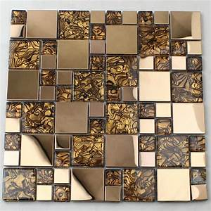 Crystal Glass Tiles Sheet Mosaic Art Wall Stickers KLS033 ...
