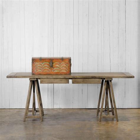 trestle desk scrubbed walnut finish ralph lauren home
