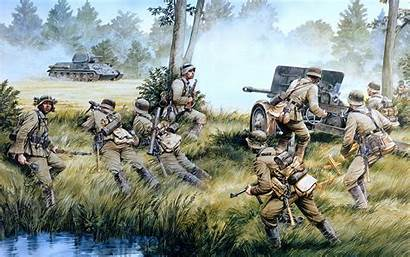 Ss Waffen German Soldiers Painting Army Wallpapers
