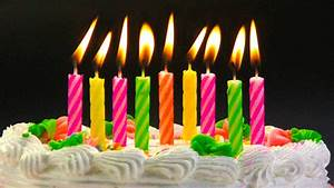 Animated happy birthday text images with candles