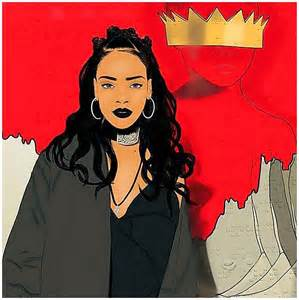Rihanna Dope Cartoon Drawing