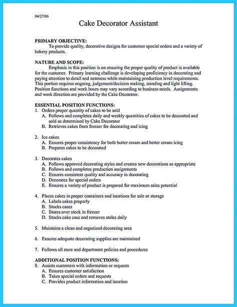 flawless cover letter cool flawless cake decorator resume to guide you to your