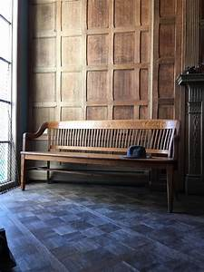 antique, wood, bench, , oak, deacons, bench, , wood, entryway, bench