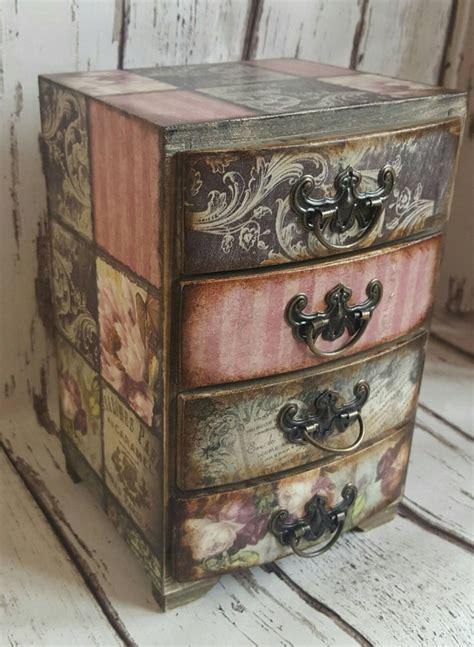 wooden mini chest  drawersjewellery storage romantic