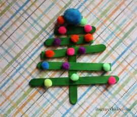 popsicle stick christmas trees preschool craft it s gravy baby