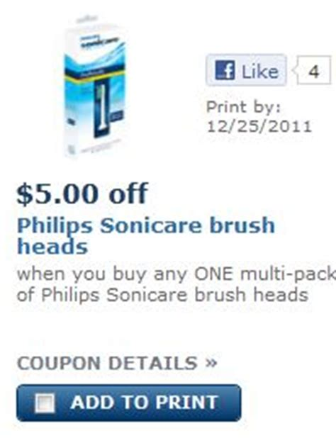 Philips Sonicare Brush Heads Coupon