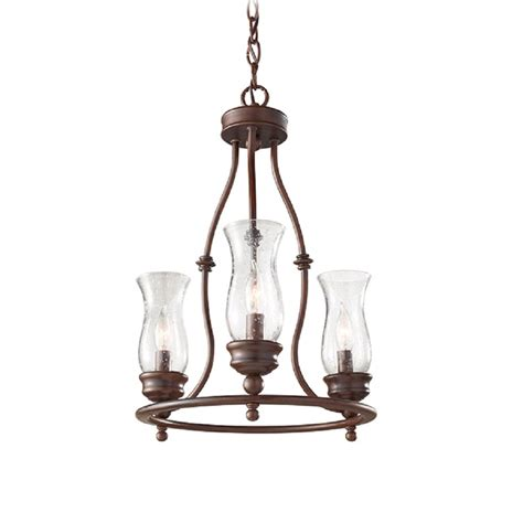 rustic bronze farmhouse style chandelier or hoop ceiling