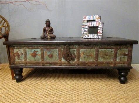 boho chic table ls boho chic green coffee table trunk eclectic coffee