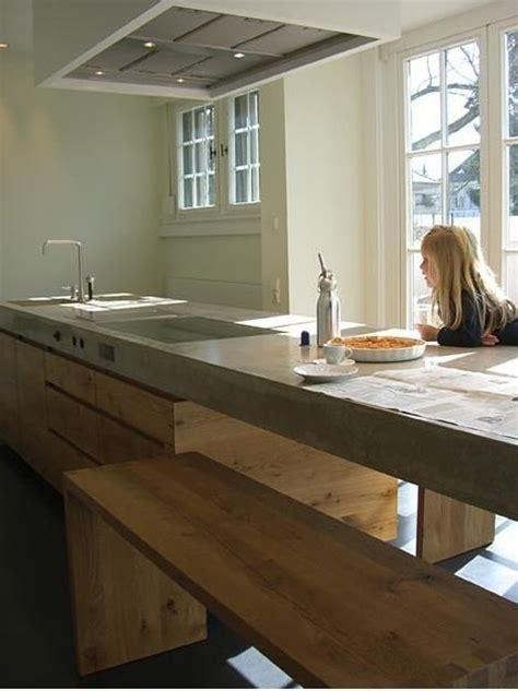 cuisine bois beton plan de travail cuisine en 71 photos idées inspirations
