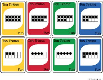 This simple card game helps kids quickly get better at knowing the pairs of numbers that add up to ten: Ten Frame Fun-Card Game {FREEBIE} by Majorly in Love with ...