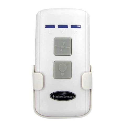 wireless fan and light control shop harbor breeze 3 speed 0 5 amp wireless white remote