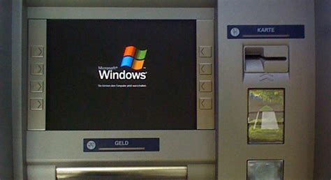 many bank atms still using windows xp after microsoft has ended support for it