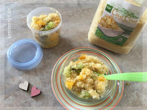 Süßer Couscous Babybrei Mit Kiwi, Banane Und Mango