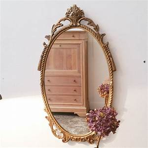 Miroir Doré Ancien : miroir ancien ovale bronze dor luckyfind ~ Teatrodelosmanantiales.com Idées de Décoration