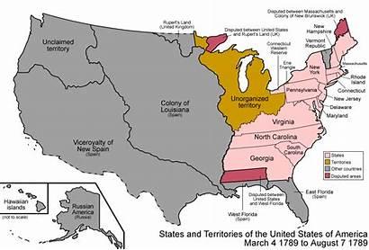 America Map Evolution States Usa United History