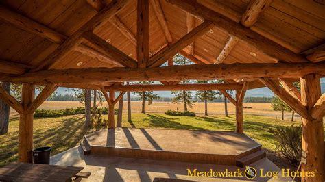 meadowlark log pavilion meadowlark log homes