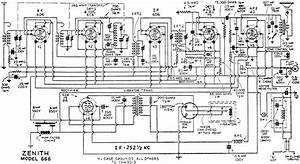 Zenith 666 Automotive Radio Schematic  June 1935 Radio