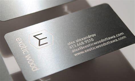 metal business cards  ottawas exotic wood idapostle